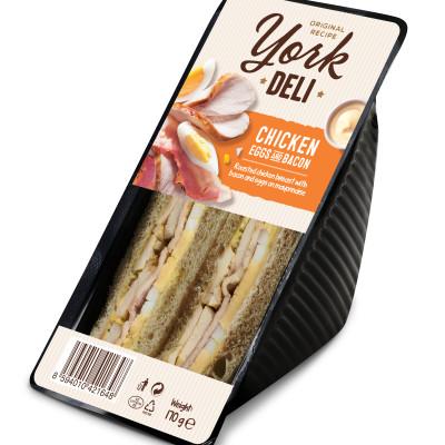York Deli Chicken, Eggs, Bacon
