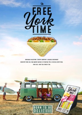 York Deli Poster A2, A3 surf