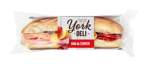 York Deli Ham & Chorizo baguette